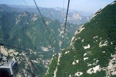 De Kabelwagenlijn van berghuashan Stock Foto's