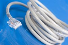 De kabelwit van het voorzien van een netwerk Royalty-vrije Stock Foto's