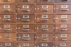 De kabinetten van het catalogusdossier stock foto's