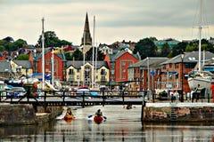 De Kade van Exeter Stock Foto
