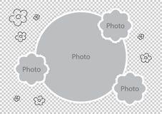 De kaders die van de babyfoto monteringen favoriete foto's verbazen stock illustratie