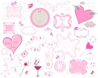 De kadersinzameling van Valentine Stock Afbeeldingen
