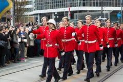 De kadetten paraderen Royalty-vrije Stock Afbeeldingen