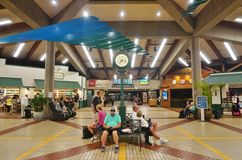 De Kahului-Luchthaven (OGG) in Maui, Hawaï Stock Foto's