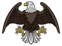 De kale adelaar spreidde de vleugel uit royalty-vrije illustratie