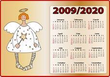 De kalender 2009 en 2020 van engelen Royalty-vrije Stock Foto's