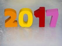 2017 in de kalender Stock Afbeeldingen