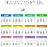 de kalender Italiaanse versie van 2013 stock illustratie