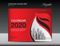 De Kalender 2020 Ontwerp van het dekkingsbureau, vliegermalplaatje, advertenties, boekje, catalogus, bulletin, boekdekking, jaarv vector illustratie
