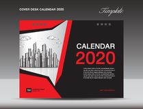 De Kalender 2020 Ontwerp van het dekkingsbureau, vliegermalplaatje, advertenties, boekje, catalogus, bulletin, boekdekking, jaarv royalty-vrije illustratie