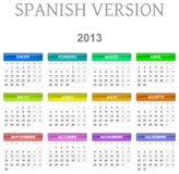 de kalender Spaanse versie van 2013 vector illustratie