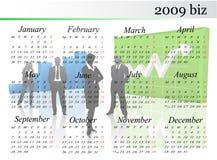 de kalender van 2009 Stock Foto's