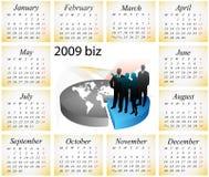 de kalender van 2009 Stock Afbeelding