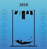de kalender van 2010 vector illustratie