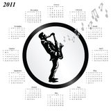 de kalender van 2011 stock illustratie
