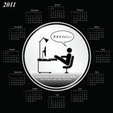 de kalender van 2011 Royalty-vrije Stock Afbeeldingen
