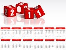 de kalender van 2011 Royalty-vrije Stock Afbeelding
