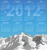 de kalender van 2012 Royalty-vrije Stock Afbeelding
