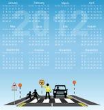 de kalender van 2012 Stock Foto