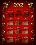 de kalender van 2012 Royalty-vrije Stock Afbeeldingen