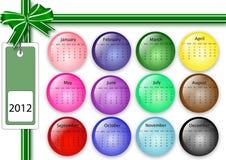 de kalender van 2012 Stock Afbeelding