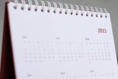 de kalender van 2013 Royalty-vrije Stock Foto