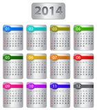 de kalender van 2014 Stock Foto