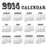 de kalender van 2014 Stock Fotografie