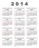de kalender van 2014 Royalty-vrije Stock Fotografie