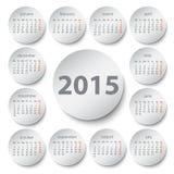 de kalender van 2015, Stock Foto's