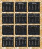de kalender van 2017 Stock Foto