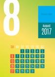 de kalender van 2017 Royalty-vrije Stock Fotografie