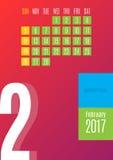 de kalender van 2017 Royalty-vrije Stock Afbeeldingen