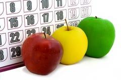 De Kalender van de appel stock foto's