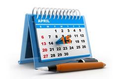 De kalender van de belastingsdag Stock Foto