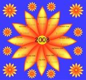 De kalender van de bloem Royalty-vrije Stock Foto