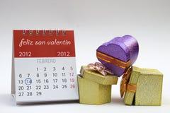 De Kalender van de Dag van de valentijnskaart \ 's Royalty-vrije Stock Afbeelding