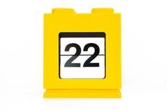 De kalender van de datum Stock Afbeelding