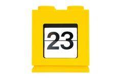 De kalender van de datum Stock Foto's