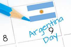 De kalender van de de onafhankelijkheidsdag van Argentinië Royalty-vrije Stock Afbeeldingen