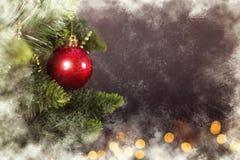 De kalender van de Kerstmisdecoratie van de groetkaart stock foto's