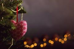 De kalender van de Kerstmisdecoratie van de groetkaart stock foto