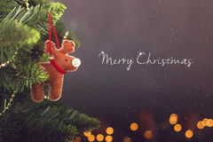De kalender van de Kerstmisdecoratie van de groetkaart stock fotografie