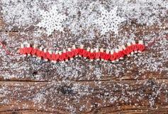 De kalender van de Kerstmiskomst met sneeuw Royalty-vrije Stock Foto