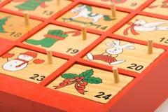 De kalender van de komst Stock Afbeelding