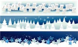 De Kalender van de komst De Tijd van Kerstmis Royalty-vrije Stock Afbeelding