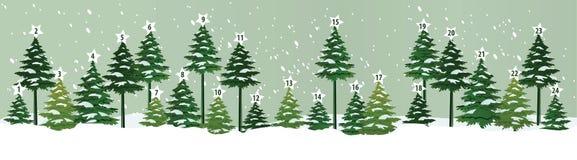 De Kalender van de komst De Tijd van Kerstmis Royalty-vrije Stock Foto's