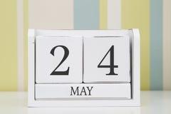 De kalender van de kubusvorm voor 24 MEI Stock Foto