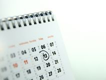 De Kalender van de lijst Stock Foto's