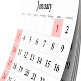 De Kalender van de muur Stock Afbeeldingen